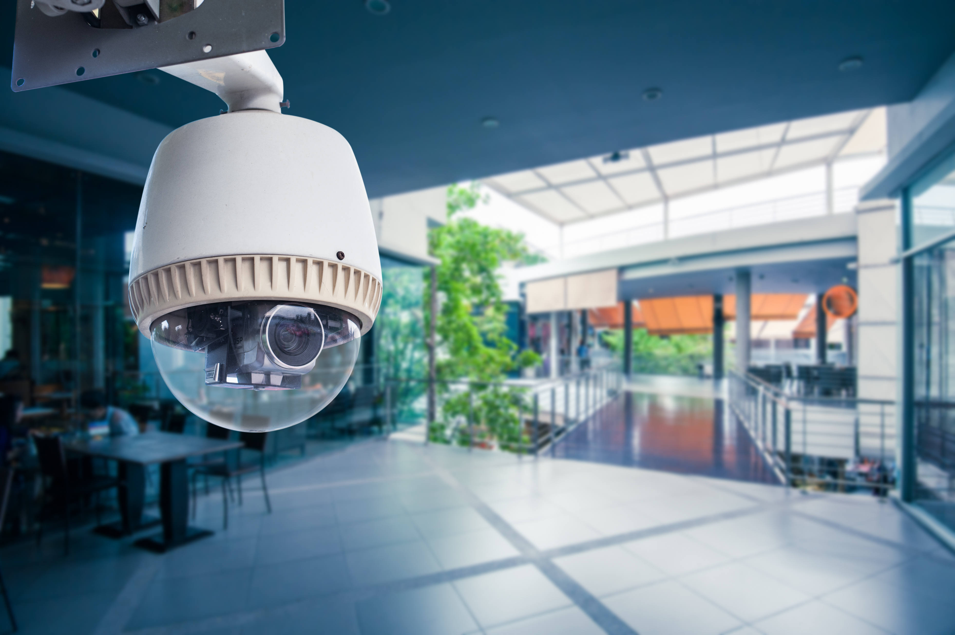 security camera in business